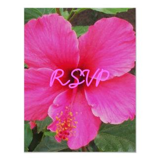 """Hibiscus, RSVP 4.25"""" X 5.5"""" Invitation Card"""