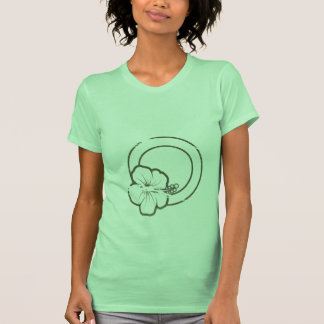 Hibiscus rubber stamp tee shirts