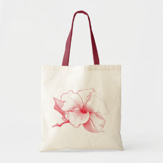 Hibiscus Sketch tote bag