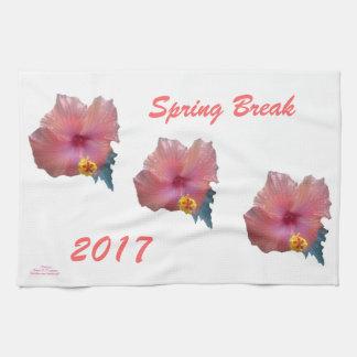 """""""HIBISCUS SPRING BREAK 2017 KITCHEN TOWEL"""" TOWELS"""
