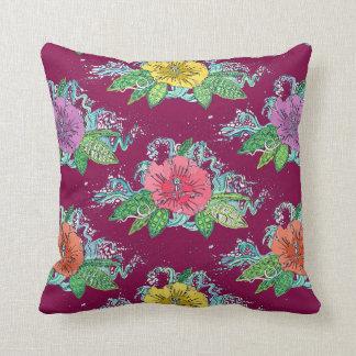 hibiscus surf berry cushion