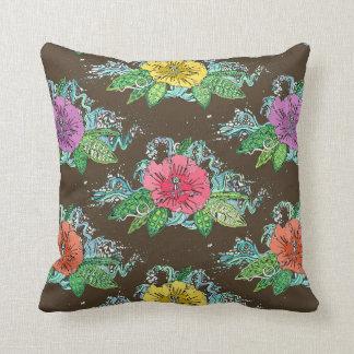 hibiscus surf coffee cushion