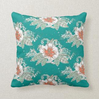 hibiscus surf retro cushion