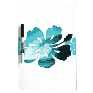 Hibiscus surf style dry erase board