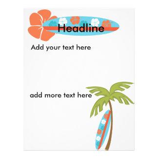 Hibiscus Surfboard 21.5 Cm X 28 Cm Flyer