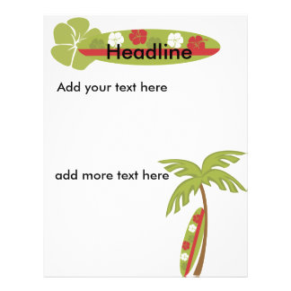 Hibiscus Surfboard Personalized Flyer