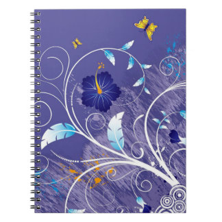 Hibiscus. Swirls and Butterfly Notebook