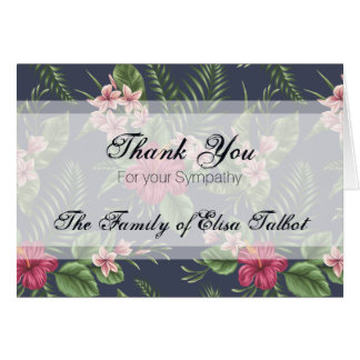 sympathy thank you with flowers cards invitations