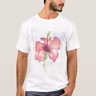 Hibiscus Tee shirt with beautiful vibrant flower