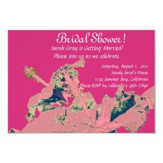 Hibiscus tropical exotic floral bridal shower 9 cm x 13 cm invitation card