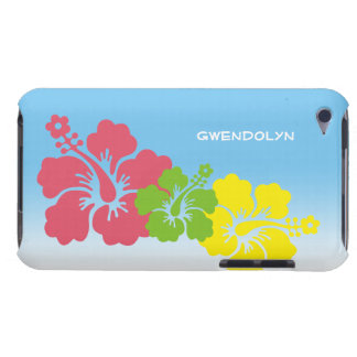 Hibiscus tropical flowers blossom trio Hawaiian iPod Case-Mate Cases