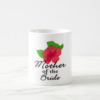 Hibiscus Tropical Mother of the Bride Classic White Coffee Mug