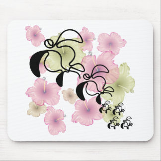 Hibiscus-Turtle-Family Mouse Mat