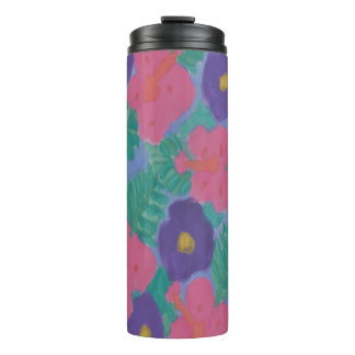 Hibiscus Watercolor Print Tumbler