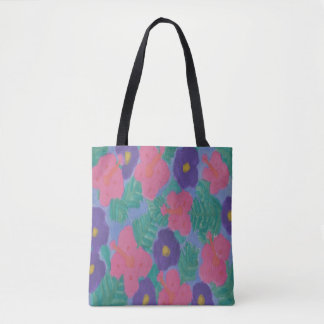 Hibiscus Watercolor Tote Bag