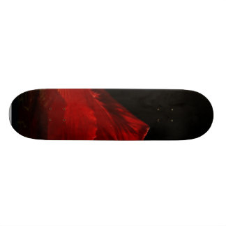 Hibiscus With One Light And A Reflecter Skate Board Decks