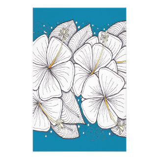 Hibiscus with Paradise Blue Sky Stationery