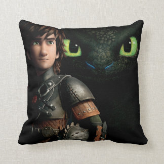 Hiccup & Toothless Throw Pillow