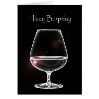 Hiccy Burpday / Happy Birthday with Brandy Card