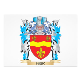 Hick Coat of Arms - Family Crest Invites