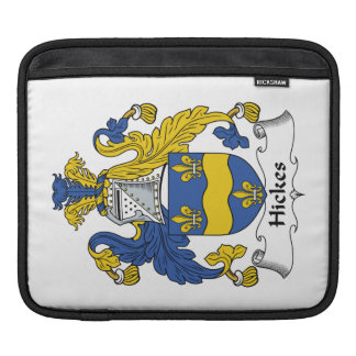 Hickes Family Crest iPad Sleeves