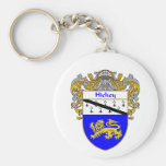 Hickey Coat of Arms (Mantled) Basic Round Button Key Ring