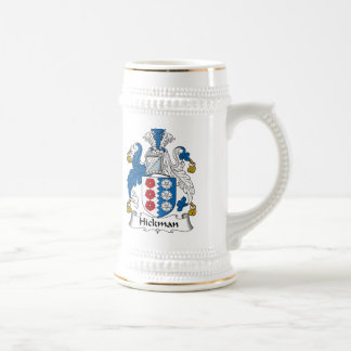Hickman Family Crest Beer Steins