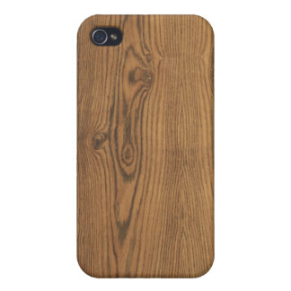 Hickory Wood Grain i Case For The iPhone 4