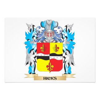 Hicks- Coat of Arms - Family Crest Announcement
