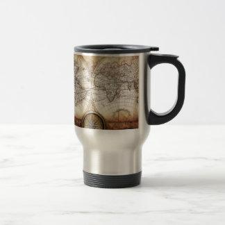 Hictorical map coffee mugs