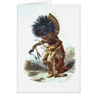 Hidatsa Warrior 1839 Greeting Card