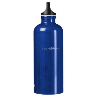 "Hidden Affirmation ""I Am Abundant"" Bottle--Blue Water Bottle"