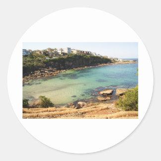 Hidden beach classic round sticker