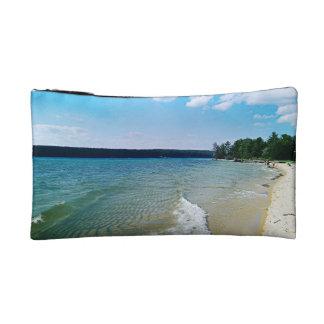 Hidden beach cosmetic bag