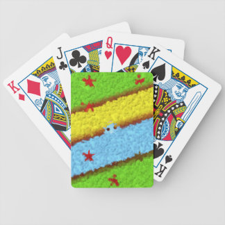 Hidden Cartoon Egg in Flowers Bicycle Playing Cards