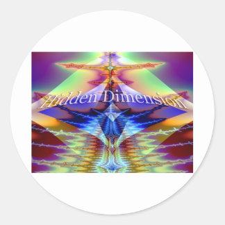 Hidden Dimension Classic Round Sticker
