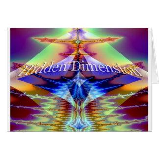 Hidden Dimension Greeting Card