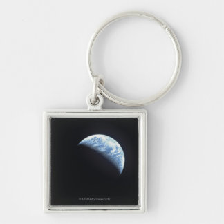 Hidden Earth Silver-Colored Square Key Ring