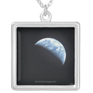 Hidden Earth Silver Plated Necklace
