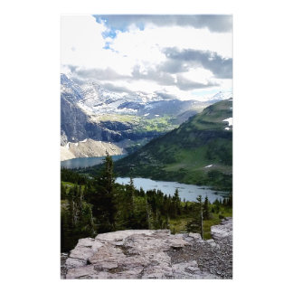 Hidden Lake Overlook Glacier National Park Montana Stationery Paper