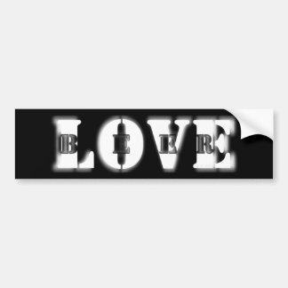 Hidden Love for Beer Bumper Sticker