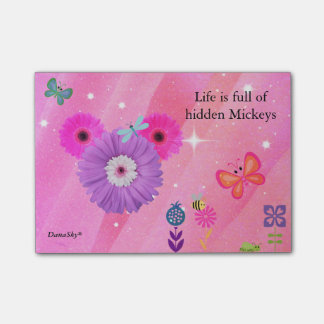 HIDDEN MICKEY spring flower POST IT Post-it Notes