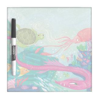 Hidden Ocean Treasures Dry Erase Board