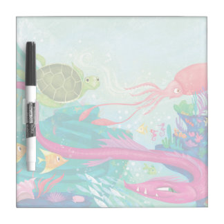 Hidden Ocean Treasures Dry-Erase Whiteboards