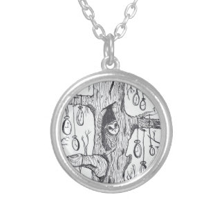 Hidden Owl and Pocket Watch Necklace