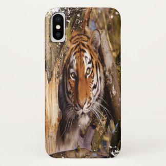 Hidden Tiger! (Grungy Look) iPhone X Case