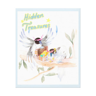 """Hidden Treasures"" Kids Canvas Print 22.59""x27.7"""