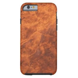 Hidden Wolves in Walnut Burl iPhone 6 case Tough iPhone 6 Case