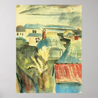 Hiddensoe after the rain by Walter Gramatte Poster