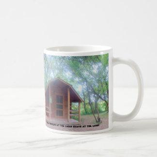 Hide-a-Way Cabin Classic White Coffee Mug